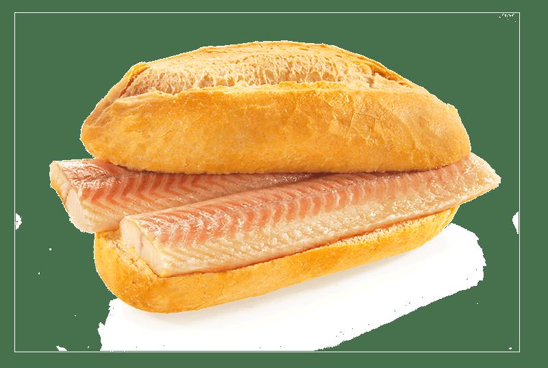 Fischbroetchen Aalfilet