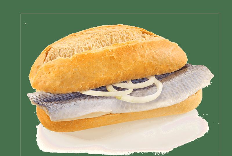 Fischbroetchen Bismarck-Hering