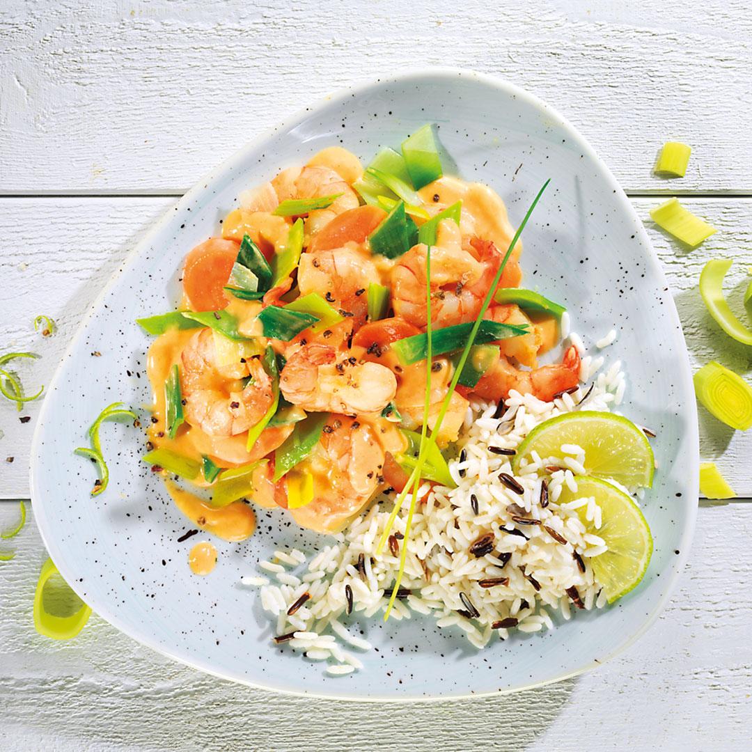 GOSCH-Garnelen in Kokos-Currysauce