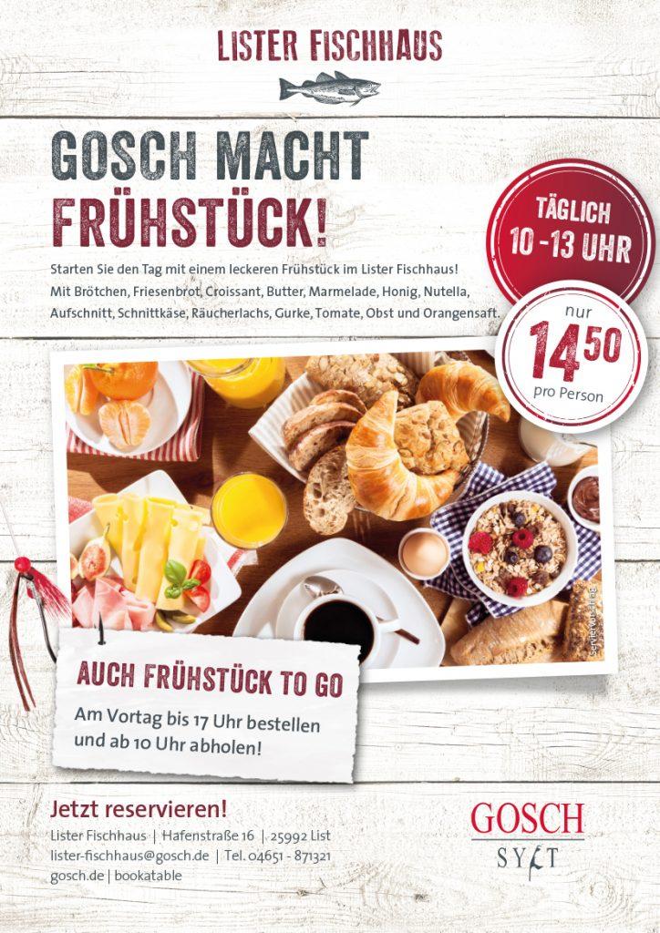 GOSCH Sylt Lister Fischhaus Frühstück März 2021